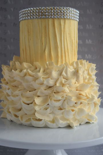 Two tiered textured cake