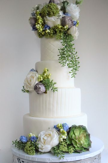 Elegant Succulent Cake