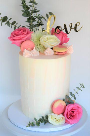 Rustic Bridal Cake