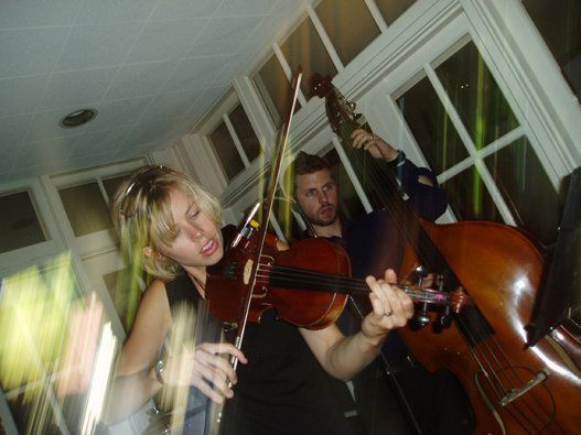 We love the combination of upright bass with violin and rhythm instrument-- rich and beautiful like...