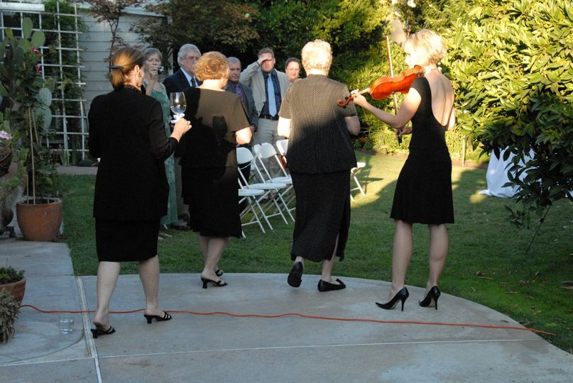 Intimate wedding held at a private residence.  Solo violin was a perfect fit.