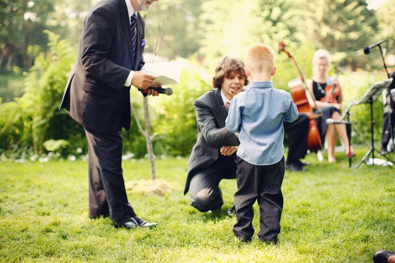 With the ring bearer