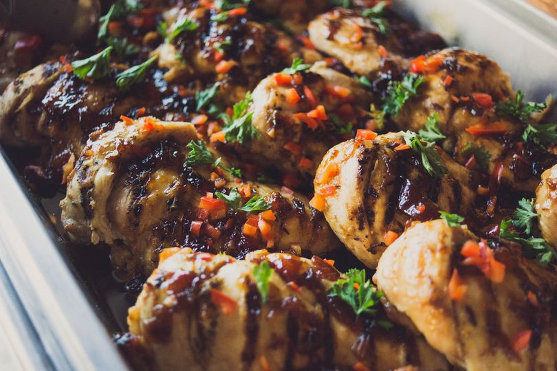 Apricot balsamic chicken | Forks & Corks Catering