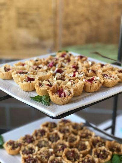 Gorgonzola raspberry tartlets   Forks & Corks Catering