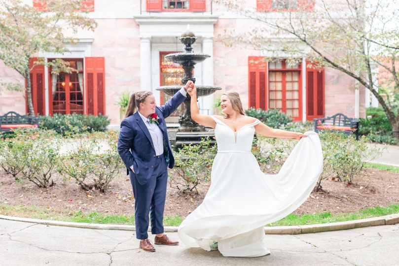 Brides twirling
