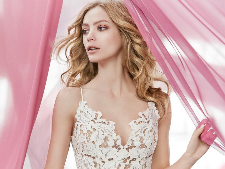 Tmx 1489767212078 Blush Hayley Paige Bridal Lace Tulle Ball Gown Sca West Boylston wedding dress