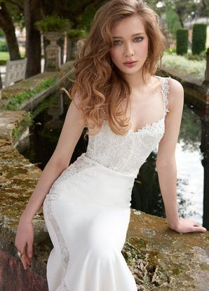 Tmx 1489767318359 Tara Keely Bridal Lace Crepe Trumpet Gown Sweethea West Boylston wedding dress