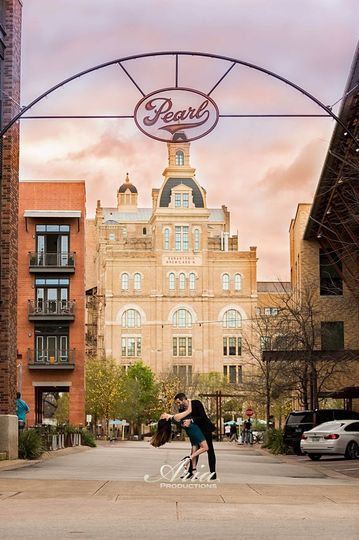 Aria Productions, Engagement Portraits at The Pearl San Antonio, Texas.