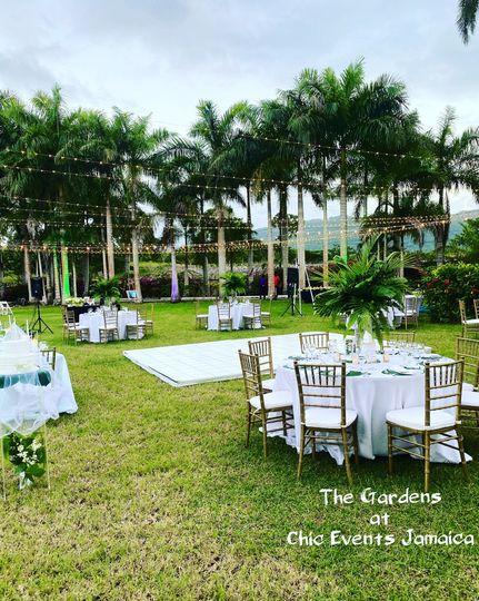 Wedding reception on main lawn