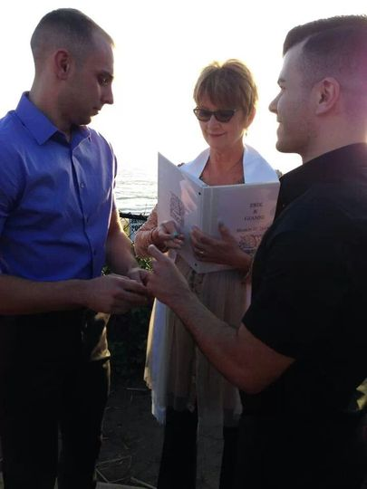 Ceremony at Seascape Beach Resort overlooking the ocean. Gianni and Erik were full of love, joy and...