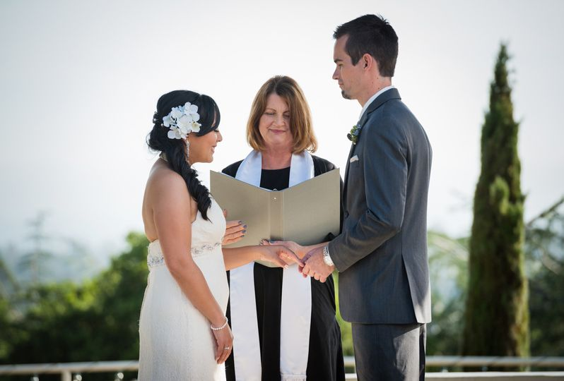 Beautiful ceremony with an ocean view at Chaminade Resort and Spa