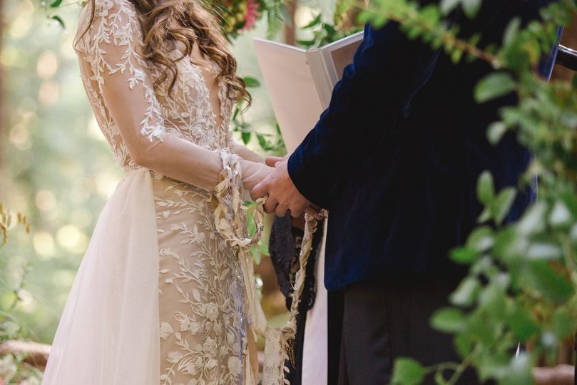 Handfasting in the forest