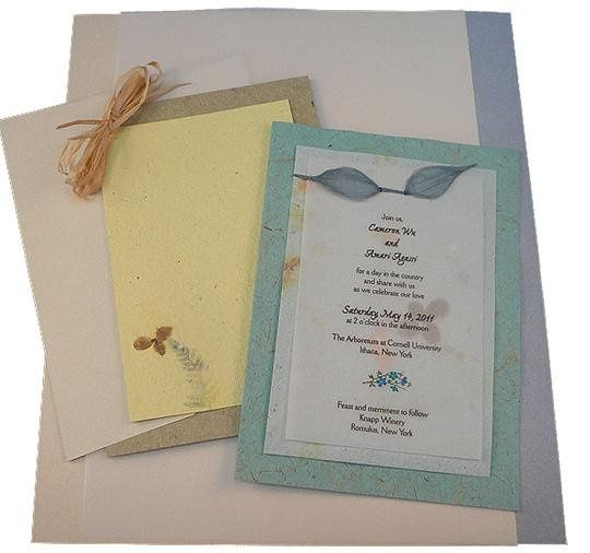 Recycled Paper Wedding Invitations: Twisted Limb Paperworks