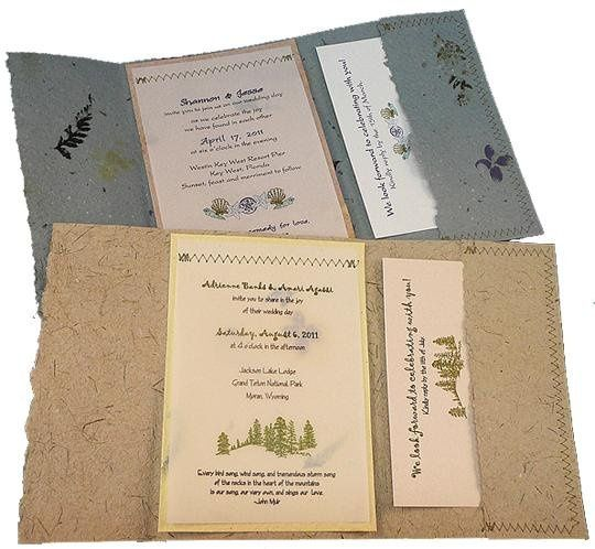 Recycled Wedding Invitations: Twisted Limb Paperworks