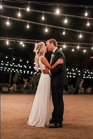 Kissing under the lights