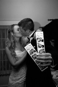 One of our favorite wedding couples took a minute to show us their personalized photostrips from...