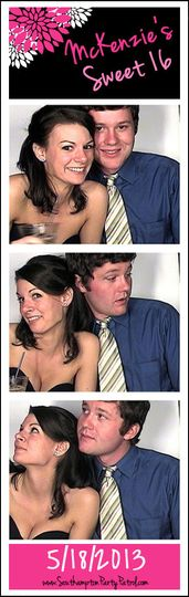 A recent customized photostrip design for a sweet 16 photobooth rental