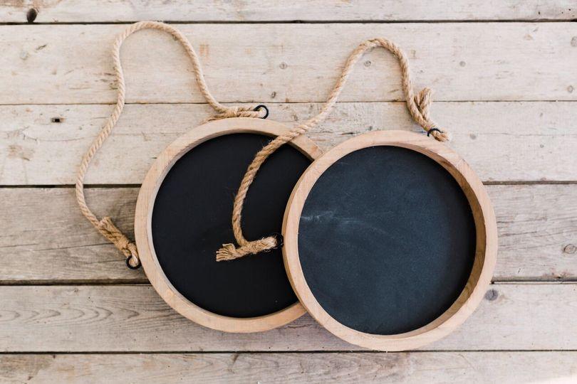 hanging wood chalkboards