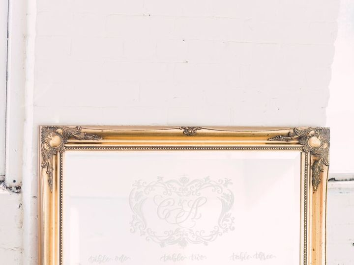 Tmx 1516890722563 Seating Chart Mirror   Photo By Harlow Bliss Photo Oneida wedding rental