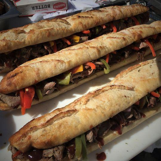Tri tip sandwiches