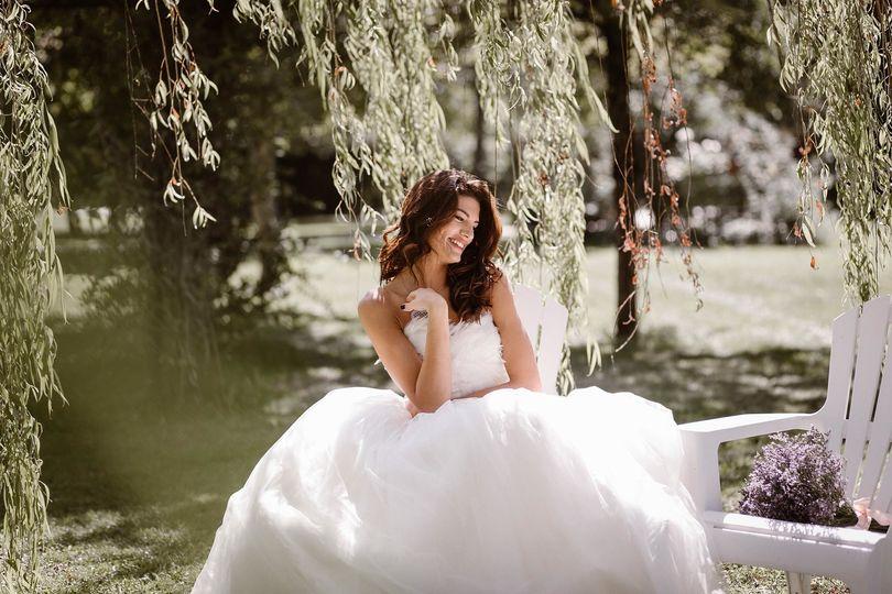 Our beautiful bride in a private Villa in Tuscany