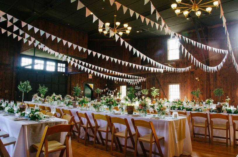 Farmhouse wedding reception
