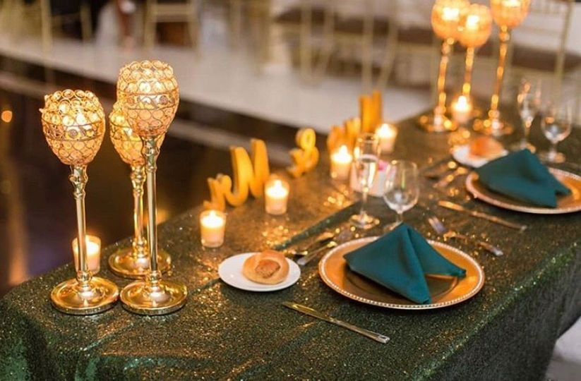 Regal wedding head table