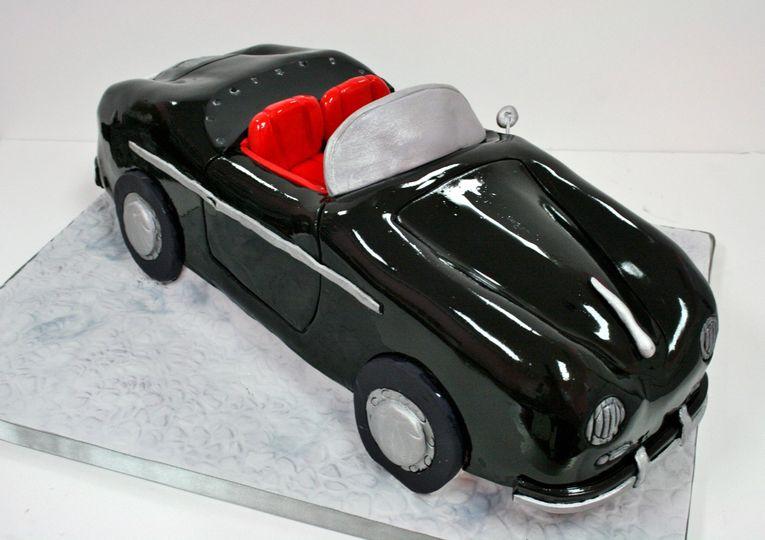 birthday cakes nyc porsche speedster convertible