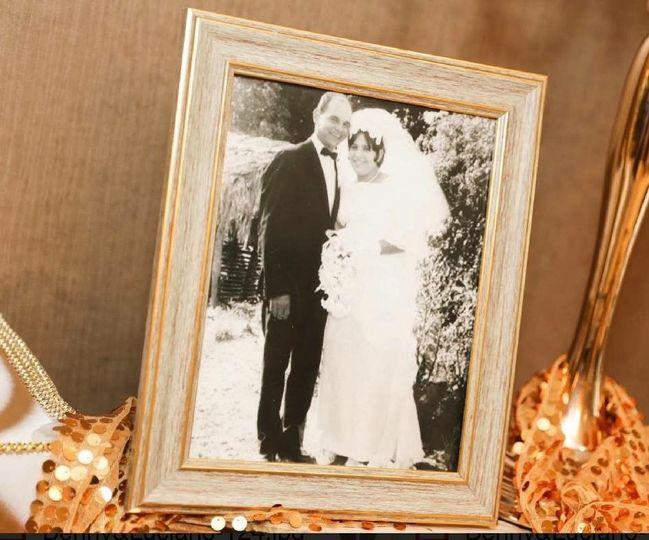 Vintage looking wedding photograph