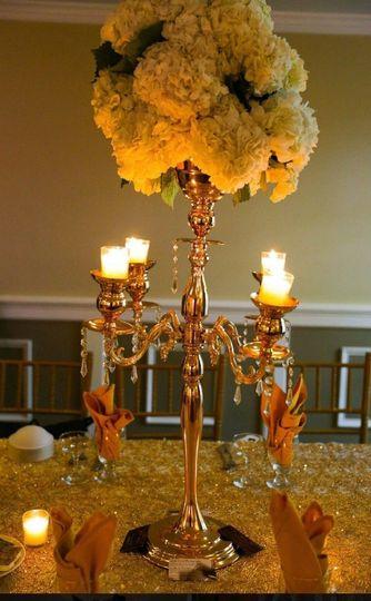 Unique candlelit centerpiece