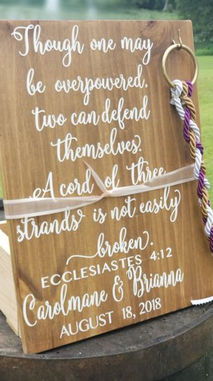 Wedding sign decor
