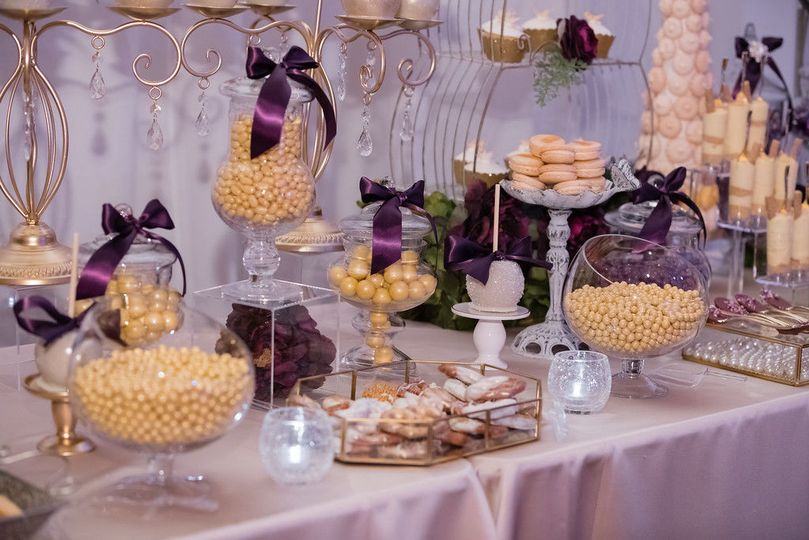 Cute Candy Table at the wedding at Aliante Hotel