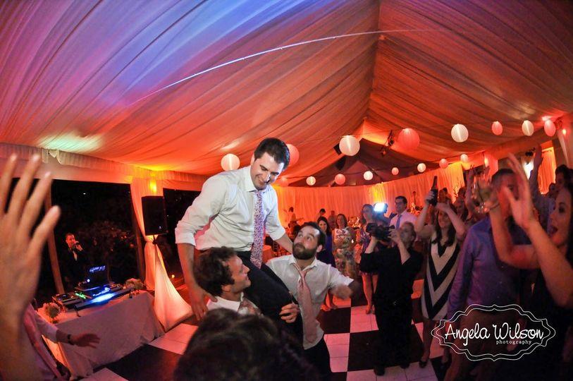 Lifting the groom