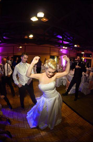 Bride busting moves
