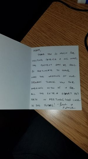 Another thank you note!