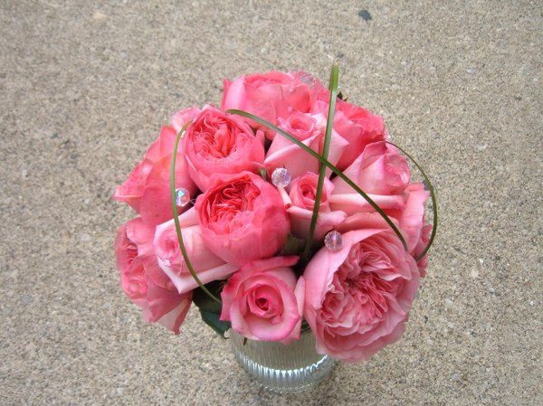 Fantastic bouquet created with french garden roses