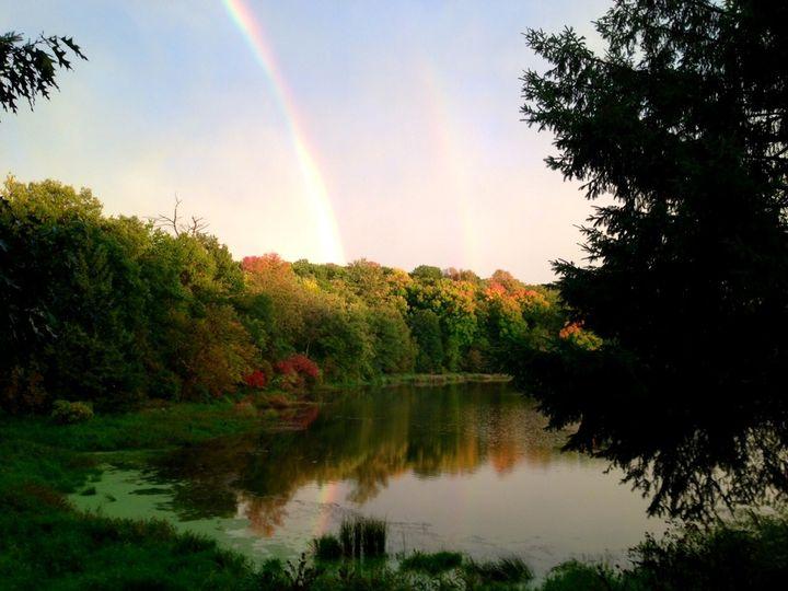 Lake & Rainbow view