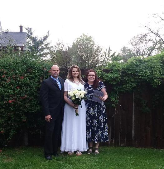 Sweet Backyard Wedding 5/20