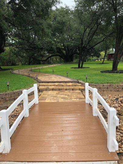 Walk bridge to ceremony area