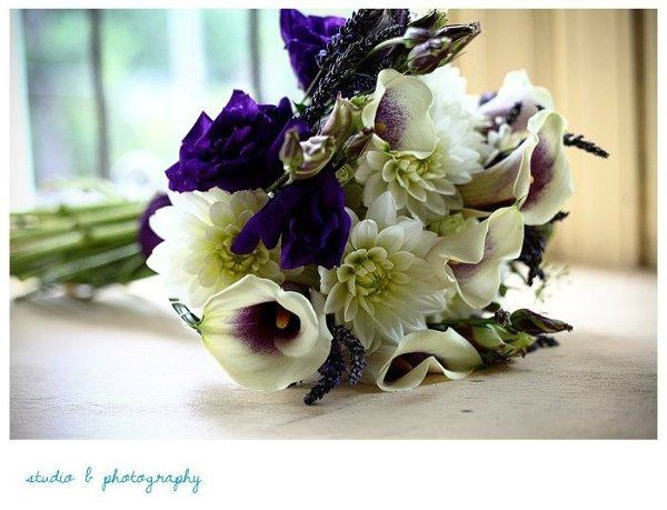 Purple is regal in this bouquet.