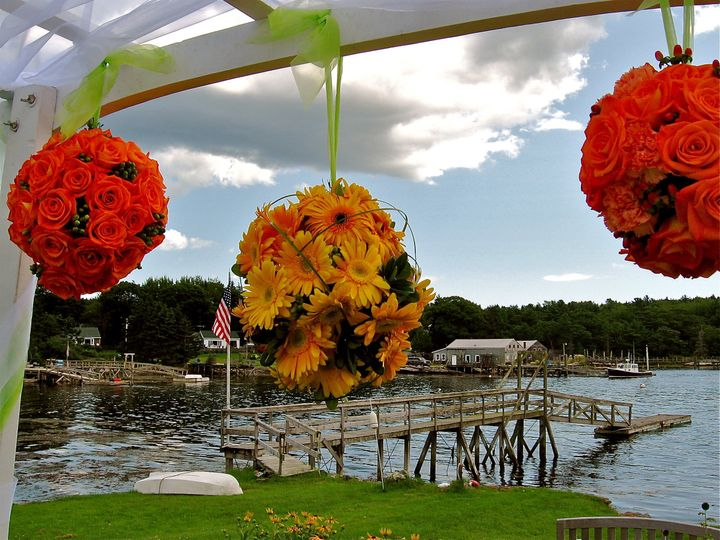 Sunflower and rose hanging decorations