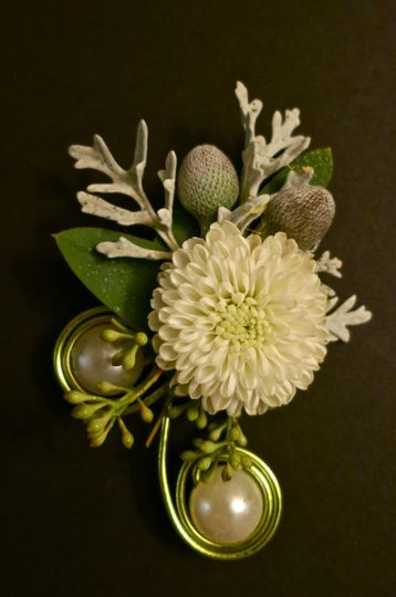 Hand-crafted boutonniere