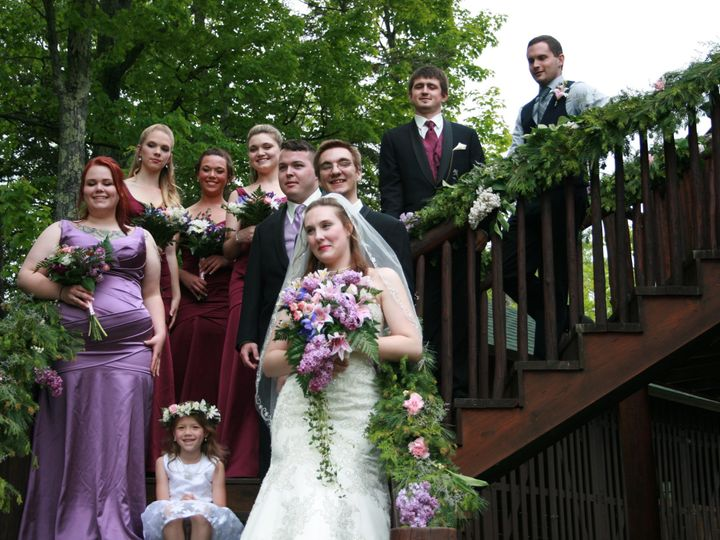 Tmx 1451501575150 Alyssa And Bridal Party On Stairs Rangeley wedding florist
