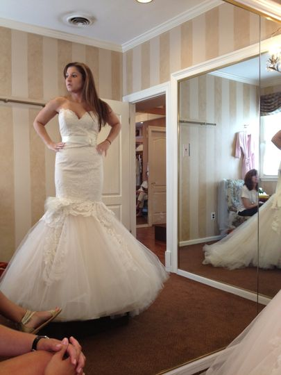 Finding her perfect dress!