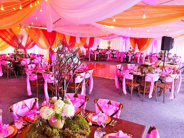 Pink and orange color scheme