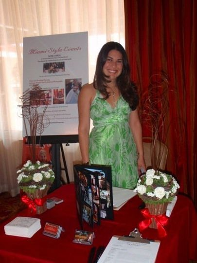 Glenixa Begley representing XG Events in a Brides Show at the Ramada Hotel in Sunny Isles Beach