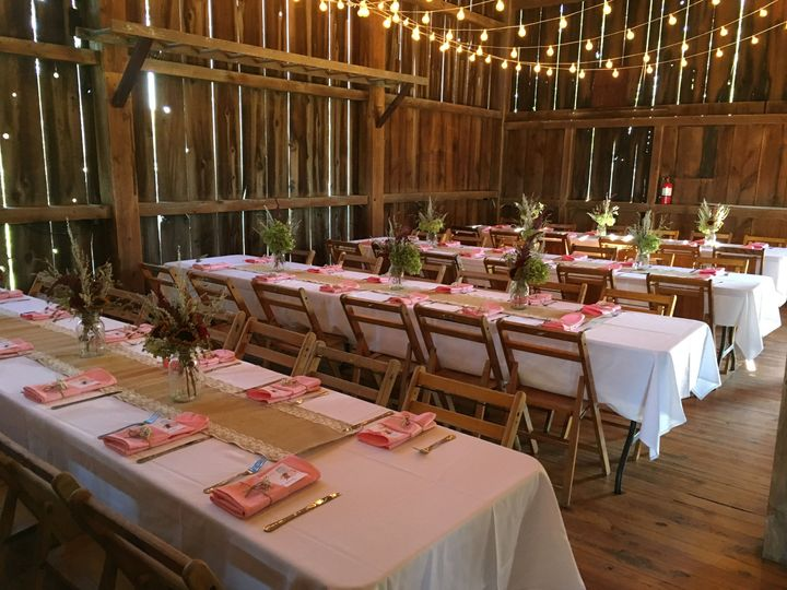 Rustic reception hall