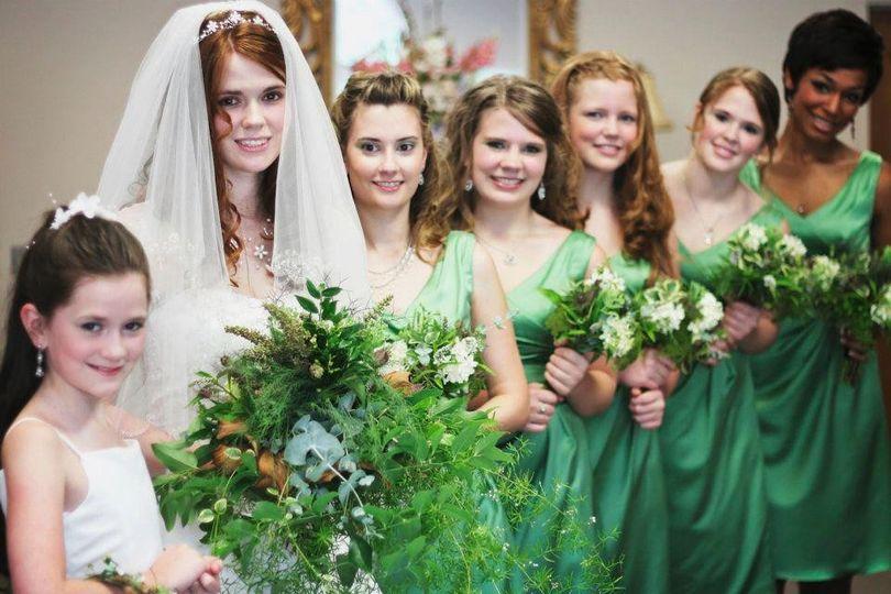 a woodland wedding in July