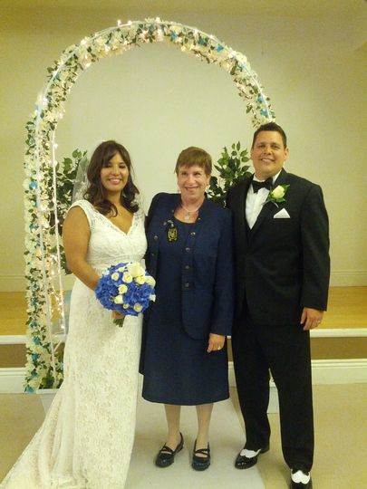 Elizabeth and AndrewWith Reverend SharonJune 21, 2014