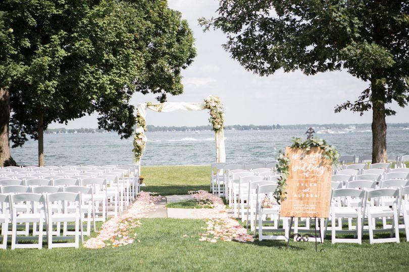 Outside ceremony setup - Oakwood Resort